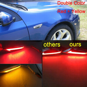 2x Red + Amber LED Side Indicators turn signal light lamp For Mitsubishi FTO GTO