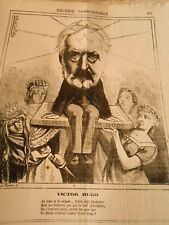 Caricature 1873 - Victor Hugo The lime et le Snake
