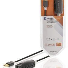 5 M De Largo USB Cable De Extensión Activo Repetidor Intensificador plomo A macho a una hembra 24K