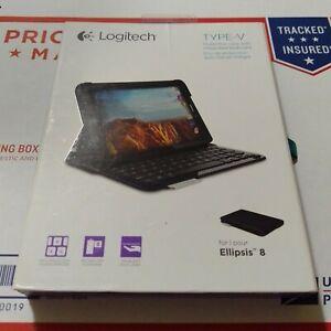 Logitech Type-V Bluetooth Keyboard Case For Ellipsis 8 QTAQZ3 Tablet - Open box