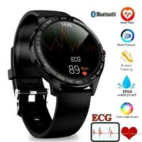 Tact Fitness Smart Watch ECG PPG Heart Rate Blood Pressure Oxygen Sensor IP68
