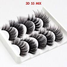 5Pairs 3D 55 MIX False Eyelashes Long Thick Mixed Fake Eye Lashes Makeup Mink UK