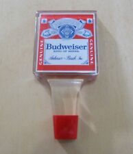 * Budweiser King of Beers Anheuser-Busch Inc Clear Acrylic Beer Tap Handle