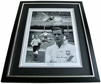 Tom Finney SIGNED FRAMED Huge Photo Autograph display PNE Preston North End COA