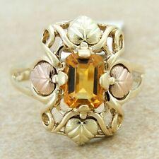 10K Gold Topaz Black Hills Gold Ring Size 9.25 G3874