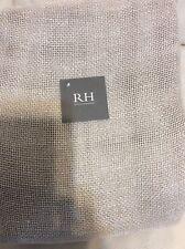 Restoration Hardware Open Weave Sheer Linen Drapery 100x96 Sand Beige