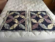 100% cotton pillow sham covers Nwot purple blue patchwork country cottage