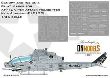 AH-1Z Viper Attack Helicopter Canopy & Insignia Paint Mask Set by DN Models