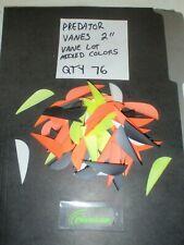 "Duravanes Predator Vanes 2.0"" Lot Of 76 Mixed Colors Predator Fletching Fletch"