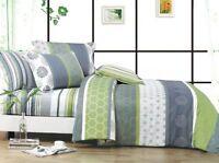 serene bedding set: 2pc/3pc/5pc duvet cover set or 4pc sheet set all sizes