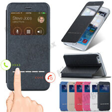 Smart View Window Flip Leather Wallet Case Cover For iPhone 4 5 SE 6 7 8 Plus X