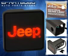 """Bully Rear 2"""" Trailer Towing Hitch Receiver Cover Logo Brake Light For """"Jeep"""""""