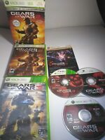 Gears of War 1, 2 W/ Slip Cover, & 3 trilogy  Fast Ship! (Xbox 360, 2006) Tested