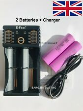 2 X SAMSUNG 18650 3000mAh 30Q Batteries with Efast USB Vape Battery Charger