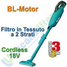 Aspirapolvere Cordless a Batteria 18V MAKITA Brushless Filtro Tessuto DCL281FZ