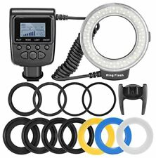 Macro LED Ring Flash Light Includes 4 Diffusers lear Warming Blue White