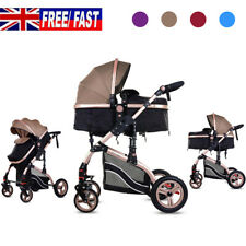 2 in1 Newborn Baby Pram Stroller Pushchair Carrycot Travel System Buggy Foldable