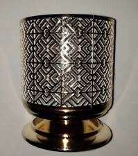Bath & Body Works Gold Geometric Tile Pedestal 3 Wick Candle Holder 14.5 oz