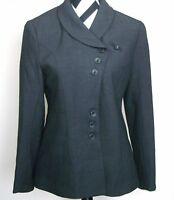Pa Li Lu 2008 Runway Fitted Jacket Blazer Coat Top 6 Women 42 Gray Charcoal