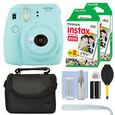 Fujifilm Instax Mini 9 Instant Film Camera Ice Blue + 40 Film Accessory Kit