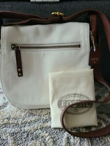 Fossil Vintage Legacy Saddle Crossbody in Coconut *NWT*