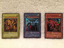 YU-GI-OH god Cards Dragon Ra, Obelisk Tormentor, Slifer Sky Dragon GBI 001, 2, 3