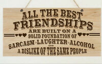 Personalised Friendship Shabby Sign Best Friend Plaque Chic Christmas Gift