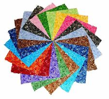 "75 4 inch Quilting Fabric Squares Beautiful Confetti Floral Tonals !4"""