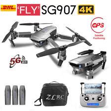 SG907 4K RC Drohne Dual Kamera 5G WIFI Optischer Fluss GPS FPV Quadrocopter+Bag