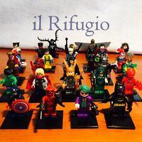 MINIATURE SUPEREROI da montare tipo lego marvel dc eroi avengers minifigure