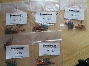 Sommerfeldt 153 5 Packungen je 5 Bausätze  Fahrdrahttrenner Ho