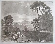 PERELLE , EAU FORTE ORIGINALE FIN 17 ÈME, DREVET.Collection petits paysages.(14)