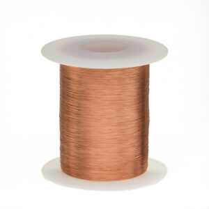 "40 AWG Gauge Enameled Copper Magnet Wire 2 oz 4152' Length 0.0034"" 155C Natural"