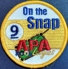 APA 9 ON THE SNAP PATCH PATCHES AMERICAN POOLPLAYERS