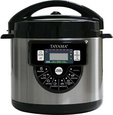 Tayama 6 Quart Programmable Pressure Slow Cooker Rice Cooking One Pot Meal Maker
