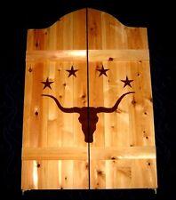 """37-52"""" Western Longhorn Steer w/ Stars Saloon Cafe Swinging Doors"""
