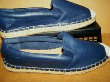 NEW! Women's 9M dollhouse Vegan Espadrille Slip-on Loafers Flats Shoes Navy SEE!