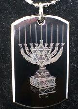 Jewish Festival Hanuka Menorah Religion Regular Tag Pendant Necklace