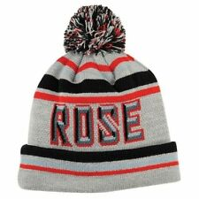 ADIDAS Derrick Rose Beanie Gray Red Black Knit Pom Cuffed Winter Hat cap