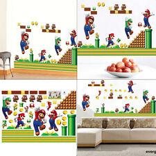 Super Mario Bros Cartoons/Character Children Wall Sticker Bedroom Kids Baby