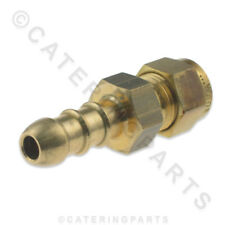 "FULHAM GAS NOZZLE 1/4"" COMPRESSION COPPER PIPE FITTING TO 10mm / 8mm ORANGE HOSE"