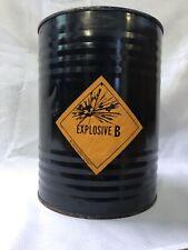 Tnt Black Powder Vintage Explosives Metal 12 Lbs Barrel Keg Mining