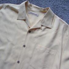 Tommy Bahama Men Large Silk Front Button Hawaiin Shirt Golf Casual Tennis