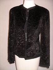 ECCOCI Verona Black Textured Velveteen Cardigan Jacket - 4 - NWT