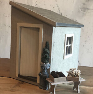 Dolls House 1:12 Lean To Garden Building Shed