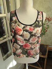 Ladies floral short skimpy top size 8