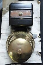 HUGE Restored Vintage Industrial Brass Electric Doorbell by GENTS - 8 - 12 volts