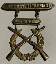Rare 1911 Us Army Expert Rifleman Ladder Badge Medal Ria Style Pin Back