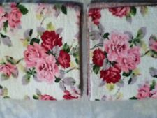 Laura Ashley King Size Reversible 2 Floral Quilted Pillow Shams