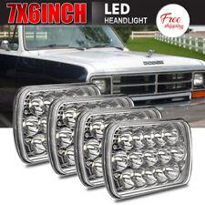 "4x 7x6"" 5x7"" Sealed CE LED Headlights Hi-Lo Beam fit Dodge D150 D250 D350 Ram 50"
